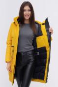 Оптом Куртка удлиненная  TRENDS SPORT горчичного цвета 22297G, фото 13