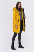 Оптом Куртка удлиненная  TRENDS SPORT горчичного цвета 22297G, фото 3