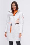 Оптом Куртка удлиненная TRENDS SPORT белого цвета 22297Bl, фото 10