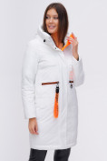 Оптом Куртка удлиненная TRENDS SPORT белого цвета 22297Bl, фото 12