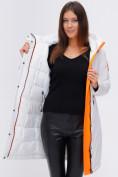 Оптом Куртка удлиненная TRENDS SPORT белого цвета 22297Bl, фото 13
