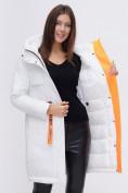 Оптом Куртка удлиненная TRENDS SPORT белого цвета 22297Bl, фото 14