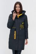 Оптом Куртка удлиненная TRENDS SPORT болотного цвета 22297Bt, фото 10