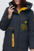Оптом Куртка удлиненная TRENDS SPORT болотного цвета 22297Bt, фото 11