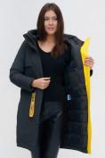 Оптом Куртка удлиненная TRENDS SPORT болотного цвета 22297Bt, фото 12