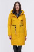 Оптом Куртка удлиненная  TRENDS SPORT горчичного цвета 22297G, фото 7