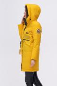 Оптом Куртка удлиненная  TRENDS SPORT горчичного цвета 22297G, фото 9