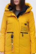 Оптом Куртка удлиненная  TRENDS SPORT горчичного цвета 22297G, фото 10