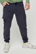 Оптом Брюки спортивные мужские темно-серого цвета 3002TC, фото 2