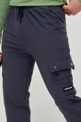 Оптом Брюки спортивные мужские темно-серого цвета 3002TC, фото 5