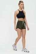 Оптом Спортивные шорты женские хаки цвета 3005Kh, фото 5