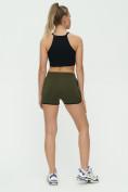 Оптом Спортивные шорты женские хаки цвета 3005Kh, фото 7