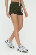 Оптом Спортивные шорты женские хаки цвета 3005Kh, фото 10