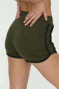 Оптом Спортивные шорты женские хаки цвета 3005Kh, фото 16