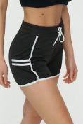 Оптом Спортивные шорты женские черного цвета 3010Ch, фото 8