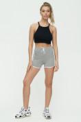 Оптом Спортивные шорты женские серого цвета 3010Sr, фото 2