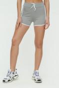 Оптом Спортивные шорты женские серого цвета 3010Sr