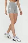 Оптом Спортивные шорты женские серого цвета 3010Sr, фото 6