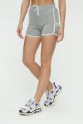 Оптом Спортивные шорты женские серого цвета 3010Sr, фото 7
