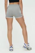 Оптом Спортивные шорты женские серого цвета 3010Sr, фото 8
