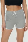 Оптом Спортивные шорты женские серого цвета 3010Sr, фото 9