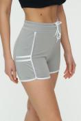 Оптом Спортивные шорты женские серого цвета 3010Sr, фото 10