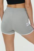 Оптом Спортивные шорты женские серого цвета 3010Sr, фото 11