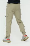 Оптом Штаны джоггеры мужские бежевого цвета 3011B в Екатеринбурге, фото 10