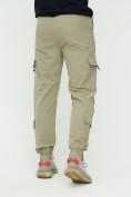 Оптом Штаны джоггеры мужские бежевого цвета 3011B, фото 11
