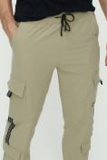 Оптом Штаны джоггеры мужские бежевого цвета 3011B, фото 12