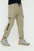 Оптом Штаны джоггеры мужские бежевого цвета 3011B, фото 9