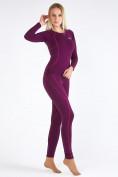 Оптом Термобелье женское фиолетового цвета 3114F в Казани