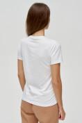 Оптом Женские футболки с принтом белого цвета 3130Bl в Екатеринбурге, фото 6