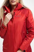 Оптом Куртка демисезонная 3 в 1 красного цвета 33213Kr в Екатеринбурге, фото 5