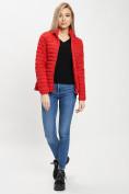 Оптом Куртка демисезонная 3 в 1 красного цвета 33213Kr в Екатеринбурге, фото 3