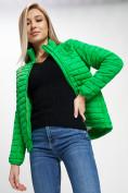 Оптом Куртка демисезонная 3 в 1 зеленого цвета 33213Z в Екатеринбурге, фото 5