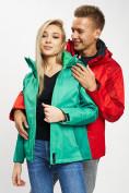 Оптом Куртка демисезонная 3 в 1 зеленого цвета 33213Z в Екатеринбурге