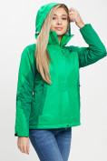 Оптом Куртка демисезонная 3 в 1 зеленого цвета 33213Z в Екатеринбурге, фото 8