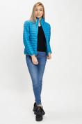 Оптом Стеганная куртка синего цвета 33310S в Екатеринбурге, фото 3