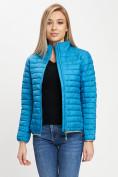Оптом Стеганная куртка синего цвета 33310S в Екатеринбурге, фото 6