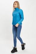 Оптом Стеганная куртка синего цвета 33310S в Екатеринбурге, фото 2
