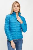 Оптом Стеганная куртка синего цвета 33310S в Екатеринбурге, фото 4