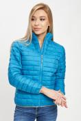 Оптом Стеганная куртка синего цвета 33310S в Екатеринбурге, фото 5