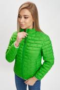 Оптом Стеганная куртка зеленого цвета 33310Z в Екатеринбурге, фото 5