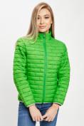 Оптом Стеганная куртка зеленого цвета 33310Z в Екатеринбурге, фото 9