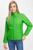 Оптом Стеганная куртка зеленого цвета 33310Z в Екатеринбурге, фото 10
