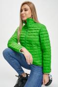Оптом Стеганная куртка зеленого цвета 33310Z в Екатеринбурге, фото 6