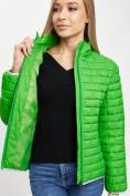 Оптом Стеганная куртка зеленого цвета 33310Z в Екатеринбурге, фото 11