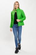 Оптом Стеганная куртка зеленого цвета 33310Z в Екатеринбурге