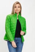 Оптом Стеганная куртка зеленого цвета 33310Z в Екатеринбурге, фото 8